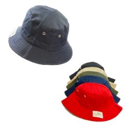 24 Units of Bucket Hat Solid Colors Vent Eyelet Accent - Bucket Hats