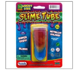 72 Units of METALLIC COLOR SLIME TUBE - Slime & Squishees