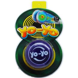 "96 Units of 2.25"" YOYO ON BLISTER CARD, 3 ASSRT STYLES - Novelty Toys"