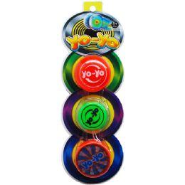 "72 Units of 3PC 2.25"" YOYO ON BLISTER CARD - Novelty Toys"