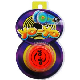 "96 Units of 2.25"" YOYO ON BLISTER CARD, 2 ASSRT STYLES - Novelty Toys"