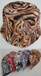 24 Units of Bucket Hat Tiger Print - Bucket Hats