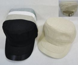 36 Units of Cotton Cadet Hat with Mesh Solid and Marl - Sun Hats