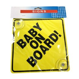 60 Units of BABY ON BOARD Suction Cup Car Sign - Auto Maintenance