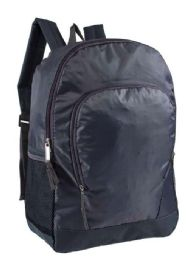 """24 Units of 17"""" Sport Backpacks with Side Mesh Water Bottle Pockets in Charcoal - Backpacks 18"""" or Larger"""