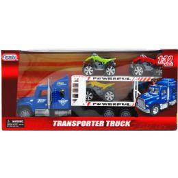 """12 Units of 14.5"""" F/F TRUCK W/ 4PC 3"""" MOTO IN WINDOW BOX - Cars, Planes, Trains & Bikes"""