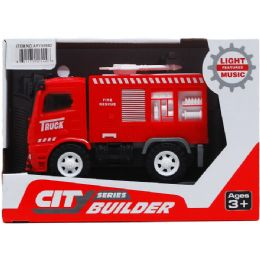 """24 Units of 5.5"""" F/W FIRE TRUCK W/ LIGHT AND SOUND IN OPEN BOX - Toy Sets"""