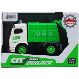"""24 Units of 5.75"""" F/W SANITATION TRUCK W/ LIGHT AND SOUND IN OPEN BOX - Toy Sets"""