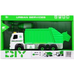 "12 Units of 8"" B/O SANITATION TRUCK W/ SCREWDRIVER IN OPEN BOX, 2 ASSRT - Toy Sets"