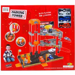 """8 Units of 36PC PARKING TOWER SET W/ 3PC 2.5"""" F/W CARS IN COLOR BOX - Cars, Planes, Trains & Bikes"""