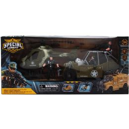 8 Units of MILITARY PLAY SET IN WINDOW BOX - Action Figures & Robots