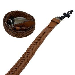 24 Units of Belt--Braided Brown All Sizes - Belts