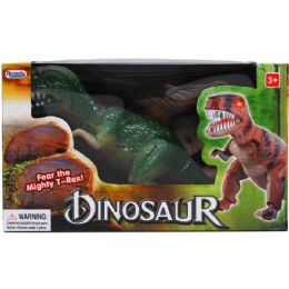 "12 Units of 11"" B/O DINO. (T-REX) W/SOUND & LIGHT IN WINDOW BOX - Educational Toys"