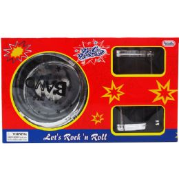 8 Units of 6PC BIG BAND DRUM PLAY SET IN WINDOW BOX - Musical