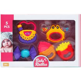 12 Units of 5PC BABY RATTLE PLAY SET - Baby Toys