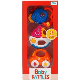 24 Units of 3PC BABY RATTLE PLAY SET - Baby Toys
