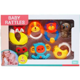 12 Units of 7PC BABY RATTLE PLAY SET - Baby Toys