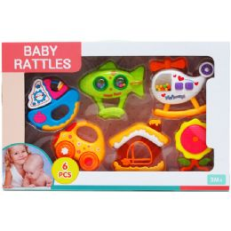 12 Units of 6PC BABY RATTLE PLAY SET - Baby Toys