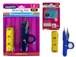 144 Units of 2pc Scissor & Tape Measure Set - Sewing Supplies