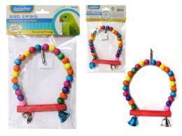 144 Units of Swinging Bird Ledge W/ Bell - Pet Supplies
