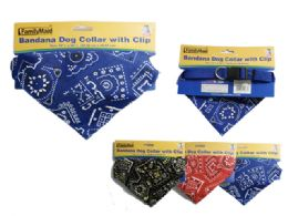 144 Units of Bandana Dog Collar - Pet Collars and Leashes