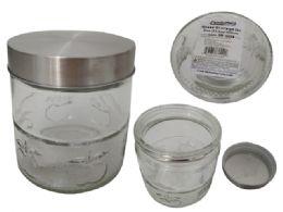 24 Units of Glass Storage Jar - Storage Holders and Organizers