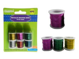 96 Units of 6PC Craft Beading Wire - Craft Tools