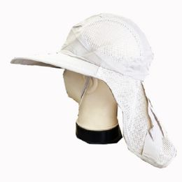 36 Units of Fishing Sun Hat With Neck Cover - Sun Hats