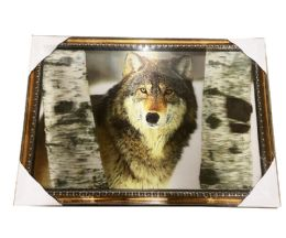 12 Units of Wolf in the Forest Canvas Picture Wall Art - Wall Decor