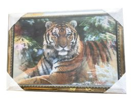 12 Units of Tiger And Lady Canvas Picture Wall Art - Wall Decor