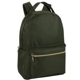 "24 Units of 17 Inch Green Sheen Satin Backpack - Backpacks 17"""