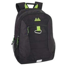 """24 Units of 19 Inch Quilted Backpack With Carabiner Clip & Padded Laptop Section - Backpacks 18"""" or Larger"""