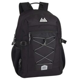 """24 Units of 19 Inch Bungee Jacquard Cord Backpack With Padded Laptop Section - Backpacks 18"""" or Larger"""