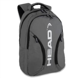 """24 Units of 18"""" Backpack With Laptop Section- Grey - Backpacks 18"""" or Larger"""