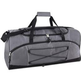 24 Units of 26 Inch Bungee Duffel Bag Navy GREY - Duffel Bags