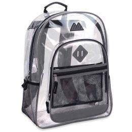 "24 Units of 17 Inch Clear Backpack- GREY - Backpacks 17"""