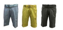 36 Units of MEN'S FASHION PRINTED CHINO SHORTS - Mens Shorts