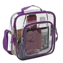 24 Units of Clear Toiletry Bag In PINK - Cosmetic Cases