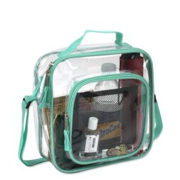 24 Units of Clear Toiletry Bag In Green - Cosmetic Cases