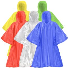 200 Units of Disposable Rain Ponchos - 5 Colors - Winter Pashminas and Ponchos