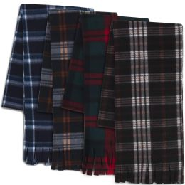 """100 Units of Adult Fleece Scarves 60"""" x 8"""" With Fringe - Flannel Scarves - Womens Fashion Scarves"""