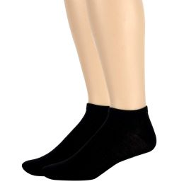 120 Units of Men's Cotton Ankle Socks Solid Colors- Black - Womens Ankle Sock