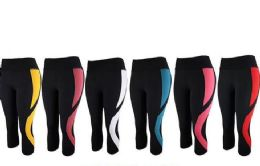 12 Units of Womens Stretch Leggings In Assorted Colors - Womens Leggings