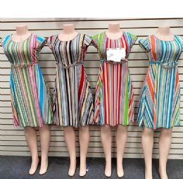 12 Units of Lady Dress With Belts In Assorted Color And Size - Womens Sundresses & Fashion