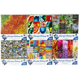 6 Units of Puzzle 1000pc Colorful Collages 6 Titles Size 27x20 See n2 - Puzzles