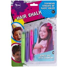 24 Units of Hair Chalk Temporary 4pc 4 Color Per Pack Blc - Hair Products