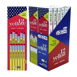 72 Units of Pencils 12ct Yellow 6-12pc Pdq Display Peggable - Pens & Pencils