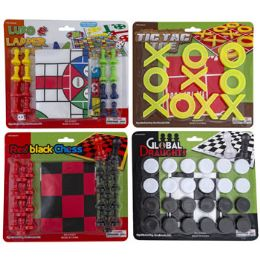 24 Units of Classic Games 4ast Tictac/snakesladders/redblkchess - Toys & Games