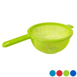 48 Units of Strainer 9.5 Inch Round With Long Handle 4 Colors - Strainers & Funnels