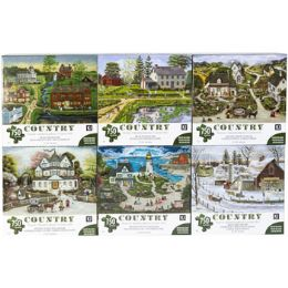6 Units of Puzzle 750pc Country 6 Titles Size 27x20 See n2 - Puzzles